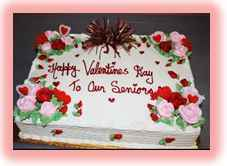 Senior's Valentine Day Cake